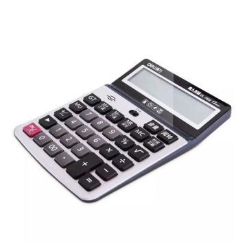 得力语音型计算器,灰色  1622