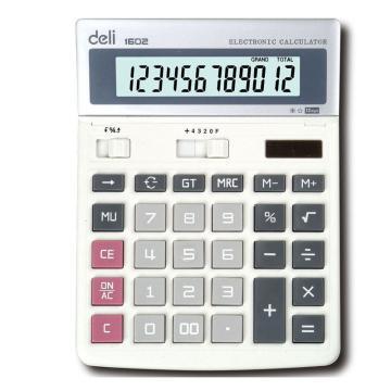 得力桌上型计算器,白色  1602
