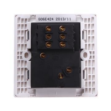 公牛 G06系列两三极+两位双控开关插座 10A,G06E424