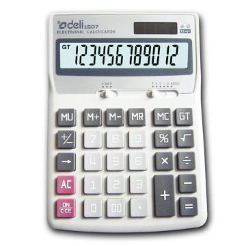 得力桌上型计算器,灰色  1507