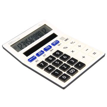 得力查数型计算器,白色  1280