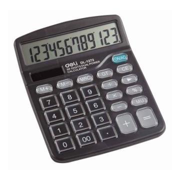 得力桌上型计算器,黑色  1272
