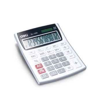 得力桌上型计算器,白色  1259