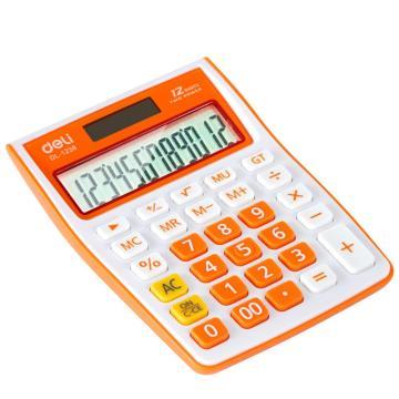 得力桌上型计算器,颜色随机  1238