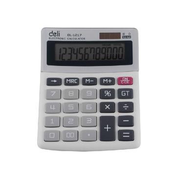 得力桌上型计算器,灰色  1217