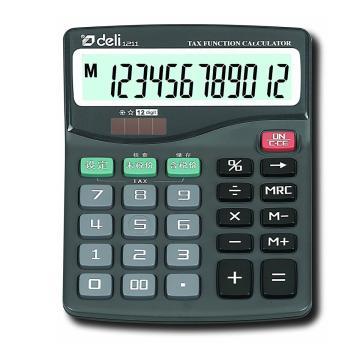 得力桌上型计算器,黑色  1211