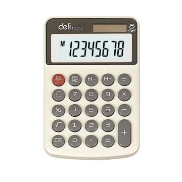 得力便携型计算器,白色  1209