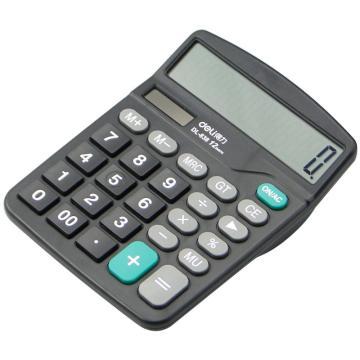 得力桌面型计算器,黑色  838