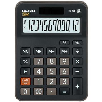 卡西欧 常规计算器,MX-12B黑色 单位:台
