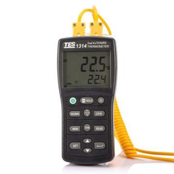 温度计,泰仕 K.J.E.T.R.S.N.温度表,TES-1314