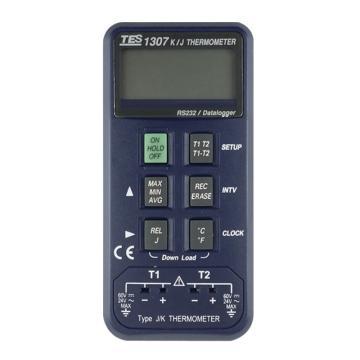 泰仕/TES K/J记忆式温度表TES-1307