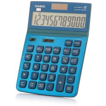 卡西欧 DW-200TW-BU 计算器 琉璃蓝色