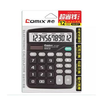 齐心 KA-837 超省钱卡装计算器 黑