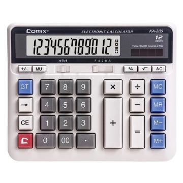 齐心 KA-2135 舒适按键卡装计算器 灰