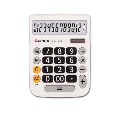 齐心 KA-1253 计算器 中大台 时尚办公 白