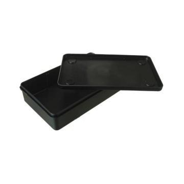三威 防静电元件盒,202*123*50mm,饭盒式,黑色