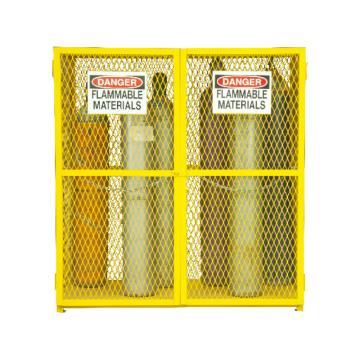 垂直气罐存储柜,宽深高:1524*762*1822,可装18个气罐