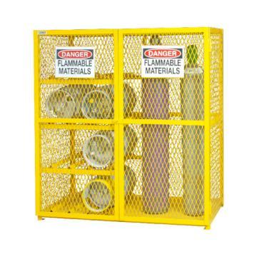 水平/垂直气罐混合存储柜,宽深高:1524*762*1822,可装9个垂直和8个水平气罐