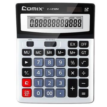 齐心计算器, 银  C-1232M