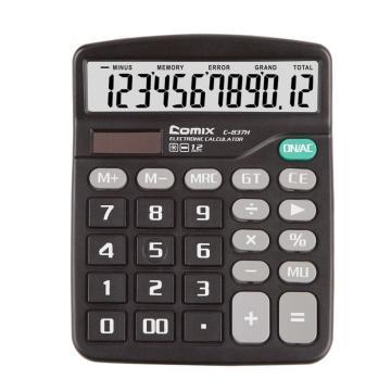 齐心计算器, 超省钱,黑  C-837H