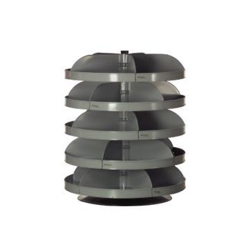 DURHAM MFG 5托架864mm Rotabin分层旋转架,载重(kg)总承重:1134