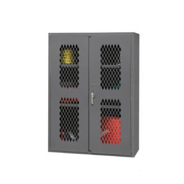 DURHAM MFG 可内视存储柜(2个可调搁板),宽深高:914*457*1829 搁板承重:318,EMDC-2602-BLP-2S-95
