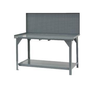 带挡边和方孔型面板的工作台,宽深高:1524*762*864,承重(kg):227