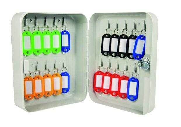 钥匙箱(20把钥匙)-白色粉末喷涂钢板,可挂20把钥匙,200×160×80mm,15458