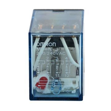 欧姆龙OMRON 继电器,LY3N-J 11脚 AC200/220V