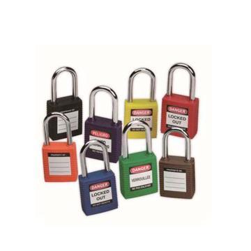 """BRADY安全挂锁,1.5"""",3.8cm,锁钩,锁芯互异,橙色,99576"""