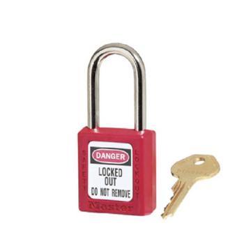 Master Lock 6mm锁钩,锁钩净高38mm,44mm高,红色XENOY工程塑料安全锁,410MCNRED