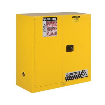 JUSTRITE/杰斯瑞特 黄色易燃液体存储柜,FM认证,30加仑/114升,双门/手动,8930001