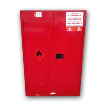 成霖 红色安全柜双门/手动,2块可调层板45加仑,CL804501