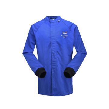 雷克兰 HRC 4级 48Cal/cm2 防电弧大褂式上衣,蓝色,L(DH经济面料)