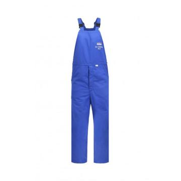 雷克兰 HRC 4级 48Cal/cm2 防电弧背带裤,蓝色,L(DH经济面料)