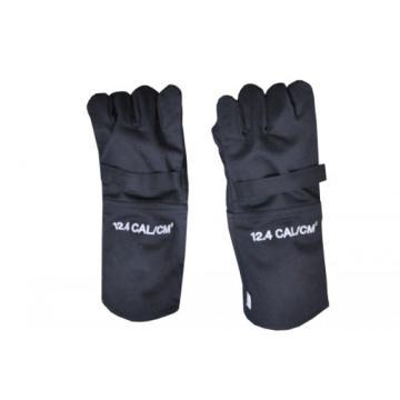 雷克兰 12.4cal系列防电弧手套,手指宽大,可与绝缘手套配合使用,总长达40cm,深蓝