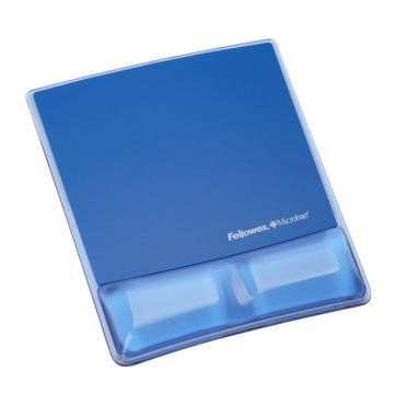 范罗士Fellowes 水晶硅胶鼠标垫, 冰晶蓝 CRC91822 单位:块