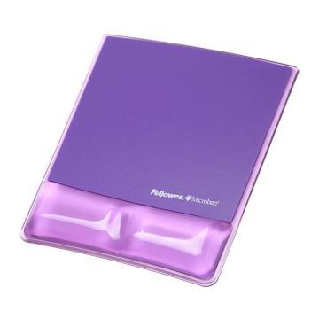 范罗士 Fellowes 水晶硅胶鼠标垫 魅惑紫 CRC91835