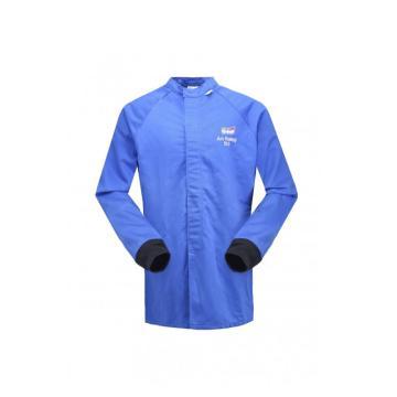 雷克兰 HRC 4级 48Cal/cm2 防电弧大褂式上衣,蓝色,XL(DH经济面料)