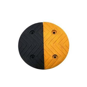 条纹型原生橡胶减速带端头,长250×宽300×高30mm