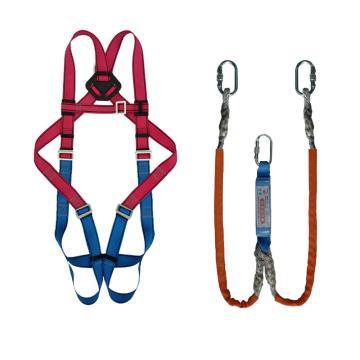 奎楼 安全带套装,GZ-Y 全身双小钩,全身式单挂点安全带套装,双头小钩