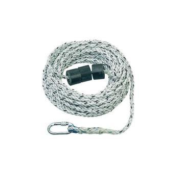 霍尼韦尔 三股安全绳,配有1个安全钩和1个重锤,14mm,20米,1002892