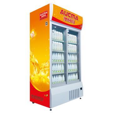 双门冷藏立式饮料柜(横拉门),澳柯玛,SC-1002,0-10℃,1220*820*2271