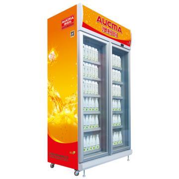双门冷藏立式饮料柜(高端),澳柯玛,SC-1006,0-10℃,1200*726*2230