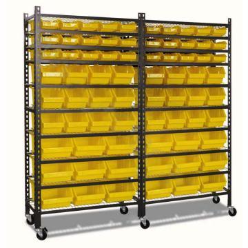 零件盒货架, 承重:200kg 9层