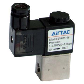 亚德客AirTAC 流体阀,2位2通直动常闭黄铜型,2V025-06-B