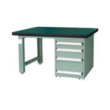 重型工作台, 2.1m (带4抽屉),绿色(RAL6011)