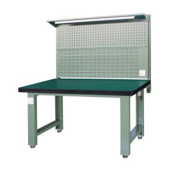 重型工作台, 2.1m (带后挂板),绿色(RAL6011)