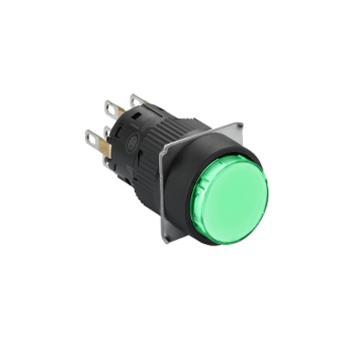 施耐德 自复位按钮,XB6EAA31F 圆形 绿色 1NO/NC