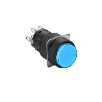 施耐德 自复位按钮,,XB6EAA61F 圆形 蓝色 1NO/NC